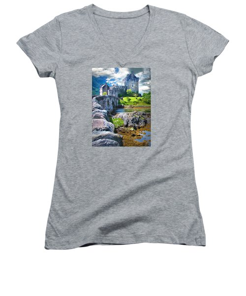 Bridge To The Castle Women's V-Neck T-Shirt