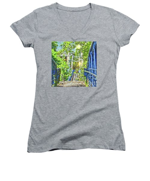Women's V-Neck T-Shirt featuring the photograph Bridge To Your Dreams by LemonArt Photography