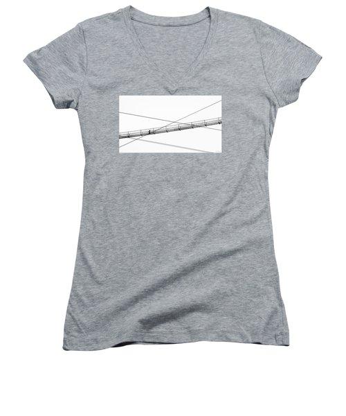 Bridge Walker Women's V-Neck T-Shirt (Junior Cut) by Joe Bonita