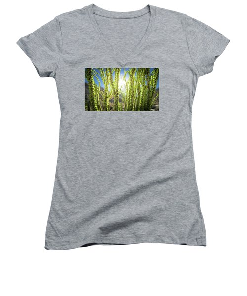 Bright Light In The Desert Women's V-Neck