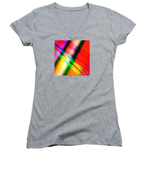 Bright Lines Women's V-Neck (Athletic Fit)