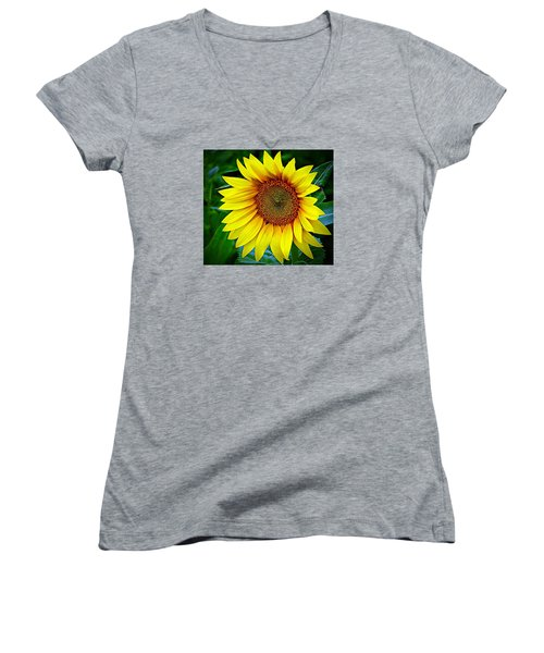 Brighten Your Day Women's V-Neck T-Shirt (Junior Cut) by Karen McKenzie McAdoo