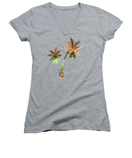 Women's V-Neck T-Shirt featuring the photograph Brilliance by Christina Rollo