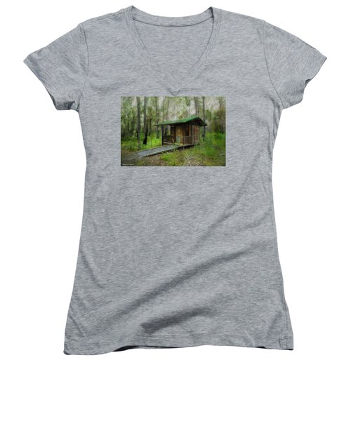 Brimbin Nature Reserve 01 Women's V-Neck T-Shirt (Junior Cut) by Kevin Chippindall