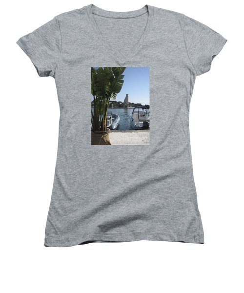 Brindisi By The Sea In May Women's V-Neck (Athletic Fit)
