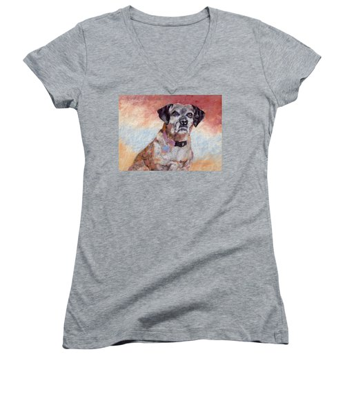 Brindle Women's V-Neck (Athletic Fit)