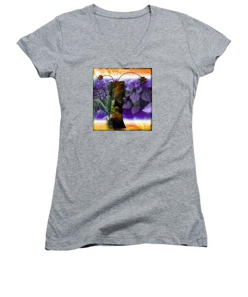 Bring Wonderland Home Women's V-Neck T-Shirt (Junior Cut) by Iris Gelbart