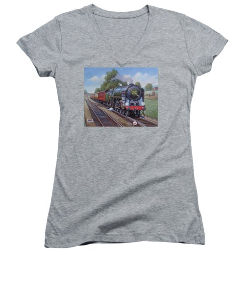 Britannia Pacific On The Golden Arrow. Women's V-Neck T-Shirt (Junior Cut) by Mike  Jeffries