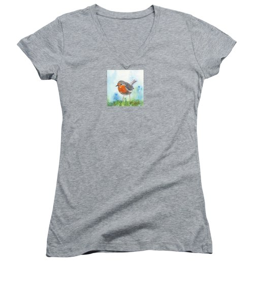 British Robin Women's V-Neck