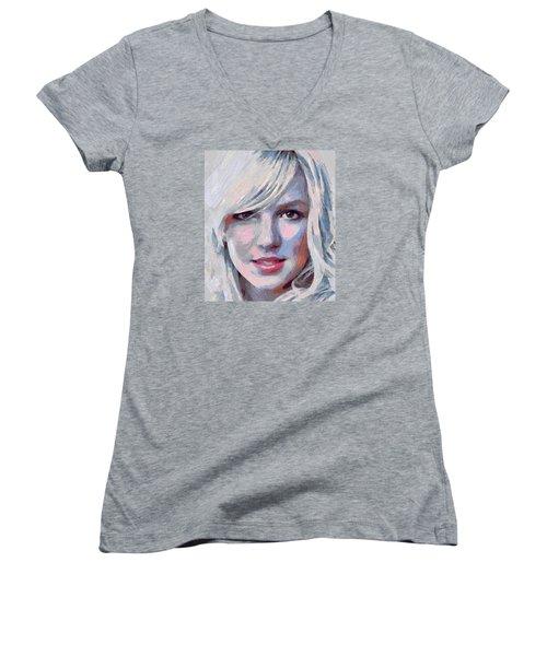 Britney Spears Portrait Women's V-Neck T-Shirt