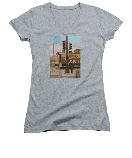 Broadway Bar Women's V-Neck T-Shirt