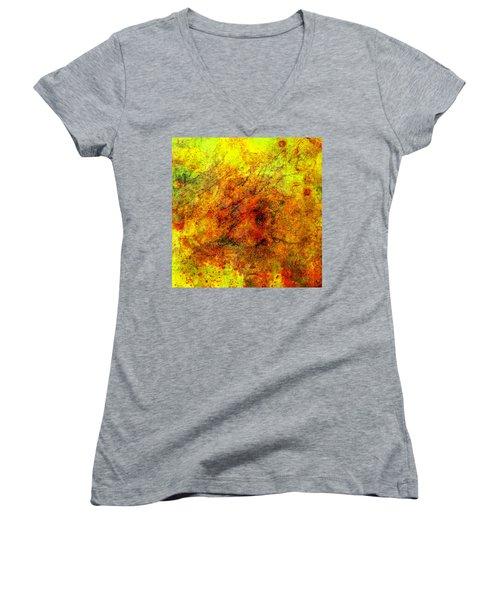 Broken Women's V-Neck T-Shirt (Junior Cut) by Ally  White
