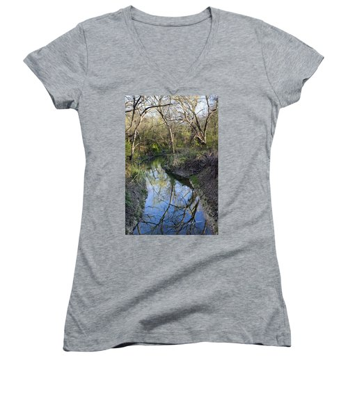 Broken Branch Creek Women's V-Neck T-Shirt