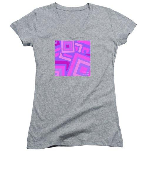 Broken Squares Women's V-Neck (Athletic Fit)
