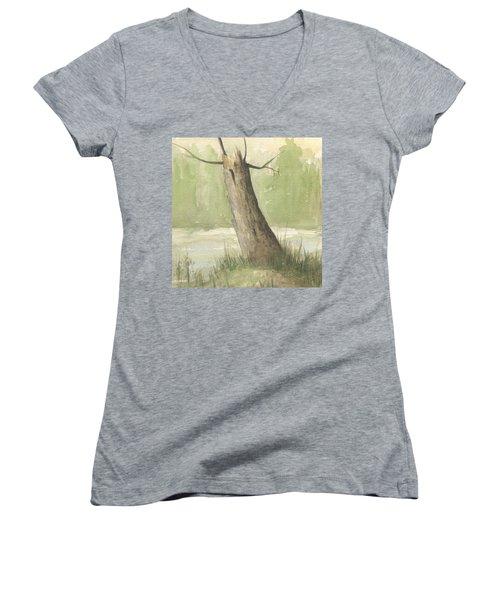 Broken Tree Women's V-Neck T-Shirt