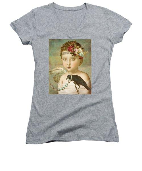 Broken Wing Women's V-Neck T-Shirt