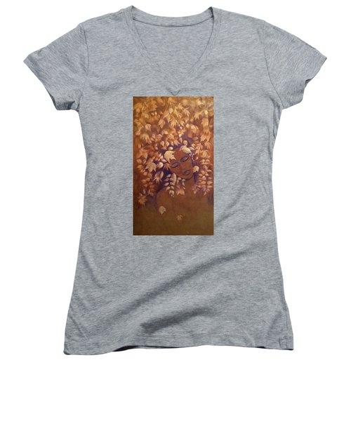 Bronze Beauty Women's V-Neck T-Shirt