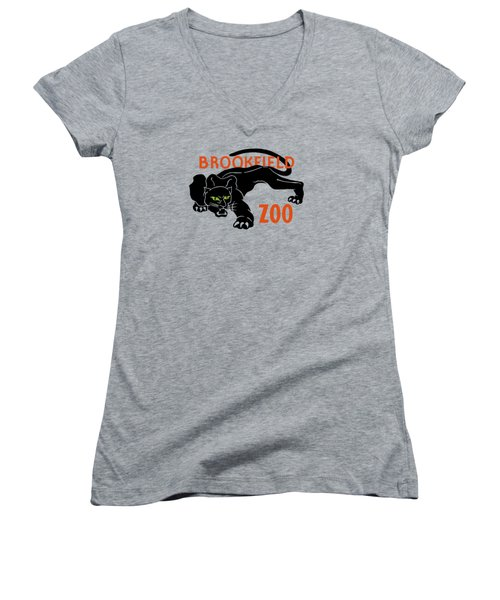 Brookfield Zoo Wpa Women's V-Neck T-Shirt (Junior Cut) by War Is Hell Store