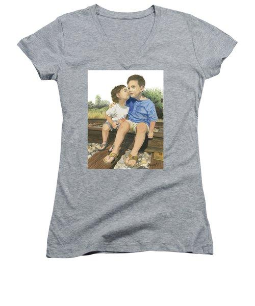 Brotherly Love Women's V-Neck T-Shirt