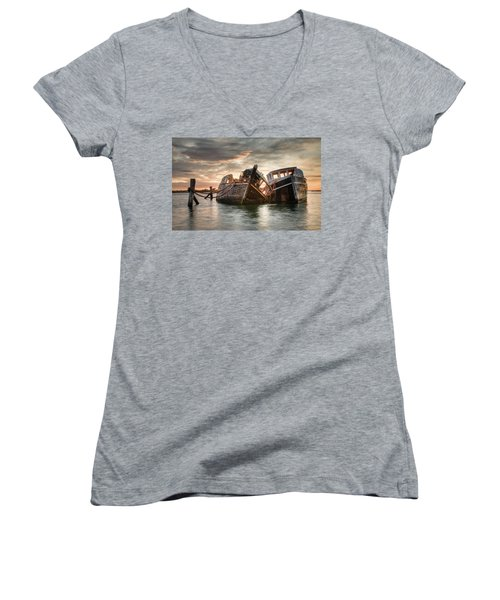 Brothers In Arms Women's V-Neck (Athletic Fit)
