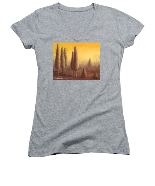 Brown Trees 01 Women's V-Neck T-Shirt