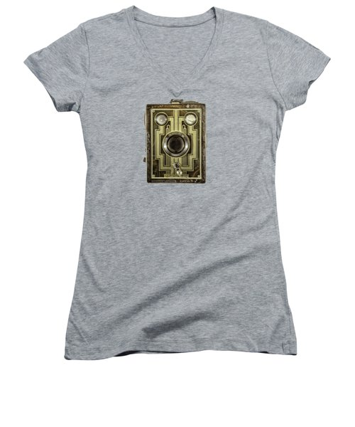 Brownie Six-20 Front Women's V-Neck T-Shirt (Junior Cut) by YoPedro