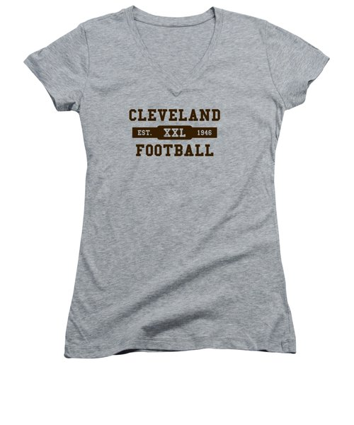 Browns Retro Shirt Women's V-Neck (Athletic Fit)