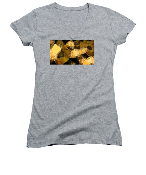 Browns Women's V-Neck T-Shirt (Junior Cut) by Ron Bissett