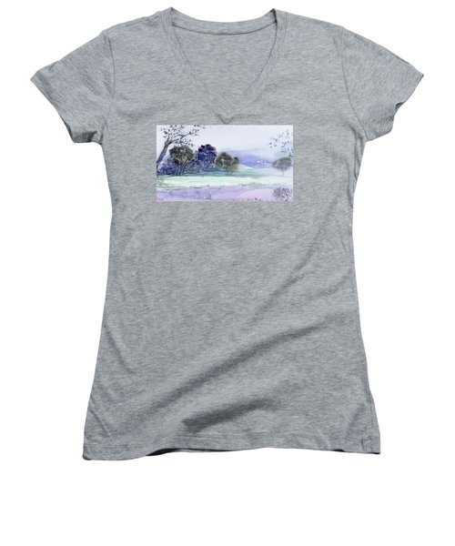Bruny Island At Dusk Women's V-Neck