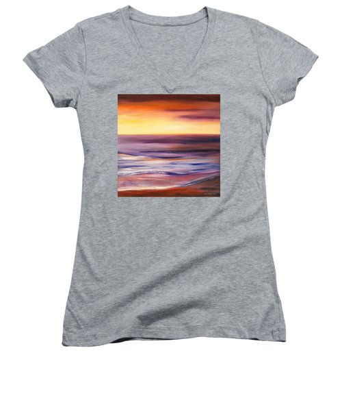 Brushed 9 Women's V-Neck T-Shirt