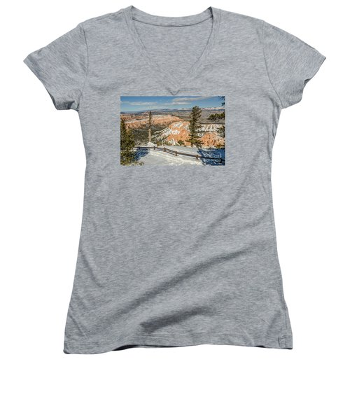 Women's V-Neck T-Shirt (Junior Cut) featuring the photograph Bryce Amphitheater From Bryce Point by Sue Smith