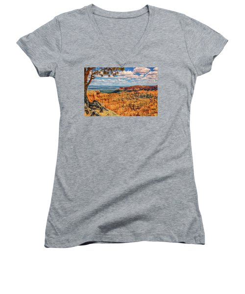 Bryce Canyon Overlook Women's V-Neck (Athletic Fit)