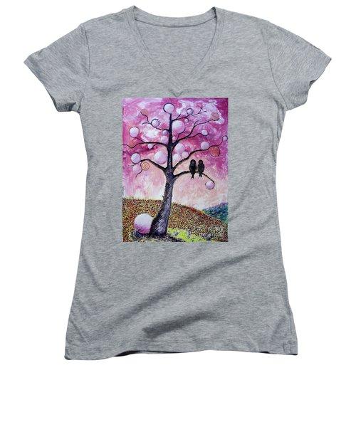 Bubbletree Women's V-Neck T-Shirt