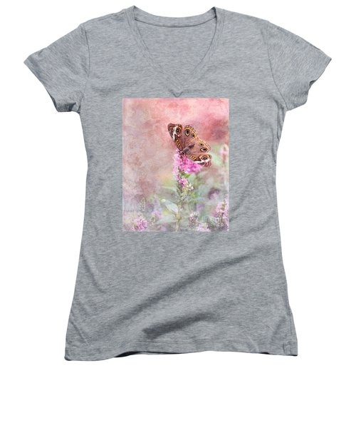 Buckeye Bliss Women's V-Neck T-Shirt (Junior Cut) by Betty LaRue
