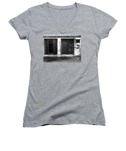 Buddha 2 Women's V-Neck T-Shirt (Junior Cut) by Laurie Stewart