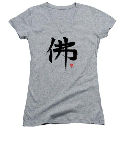 Buddha T-shirt Women's V-Neck (Athletic Fit)