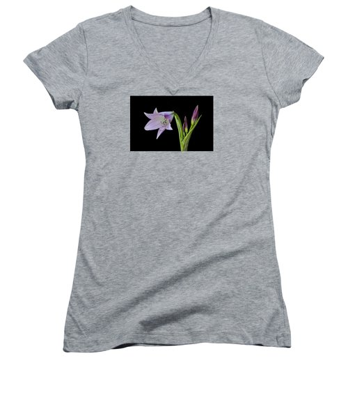 Budding Lily Women's V-Neck