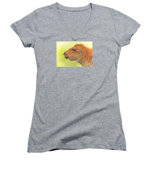 Buffalo Calf Two Women's V-Neck T-Shirt