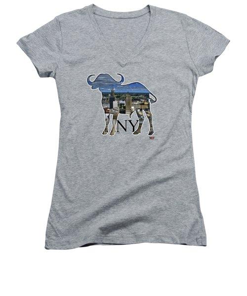 Buffalo Ny Court St Women's V-Neck T-Shirt