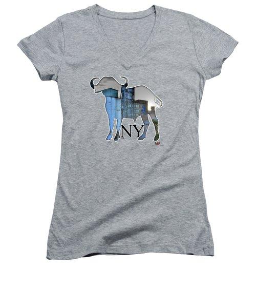 Buffalo Ny General Mills Women's V-Neck T-Shirt
