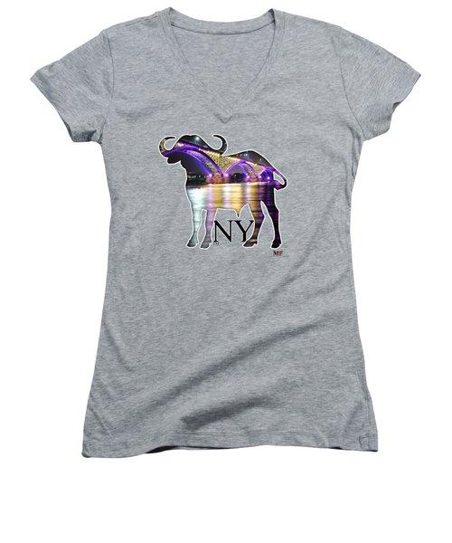 Buffalo Ny Peace Bridge  Women's V-Neck T-Shirt
