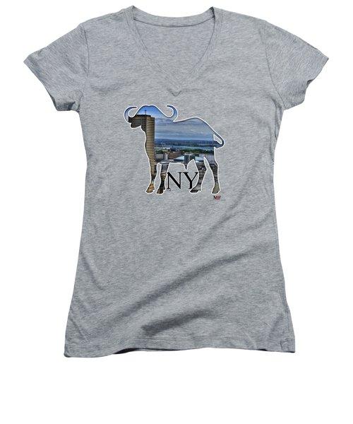 Buffalo Ny Skyway Women's V-Neck T-Shirt
