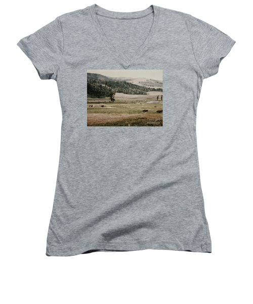 Buffalo Roam Women's V-Neck (Athletic Fit)