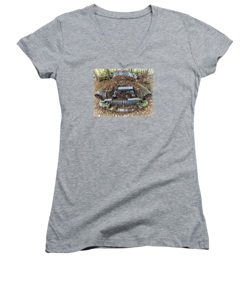 Buick In Decay Women's V-Neck