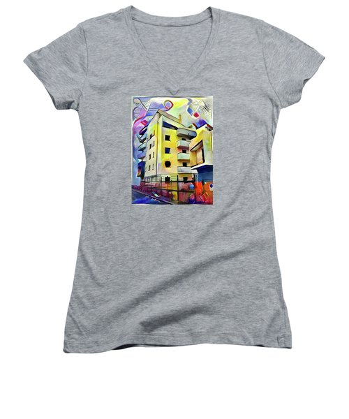 Building Site #1 Women's V-Neck (Athletic Fit)