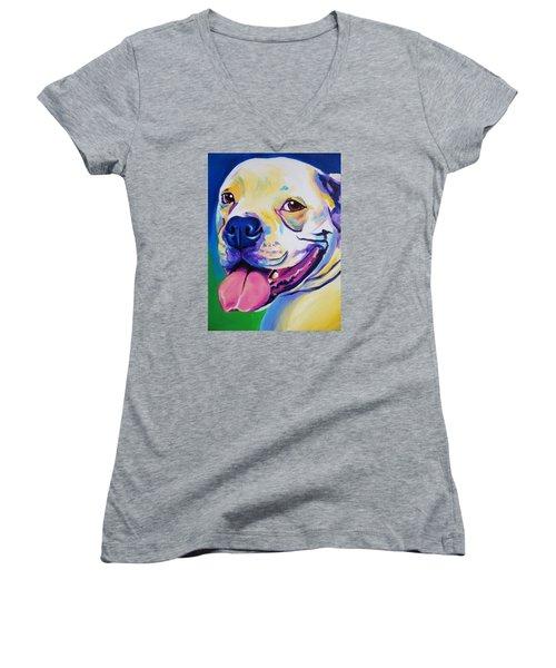 American Bulldog - Luke Women's V-Neck T-Shirt