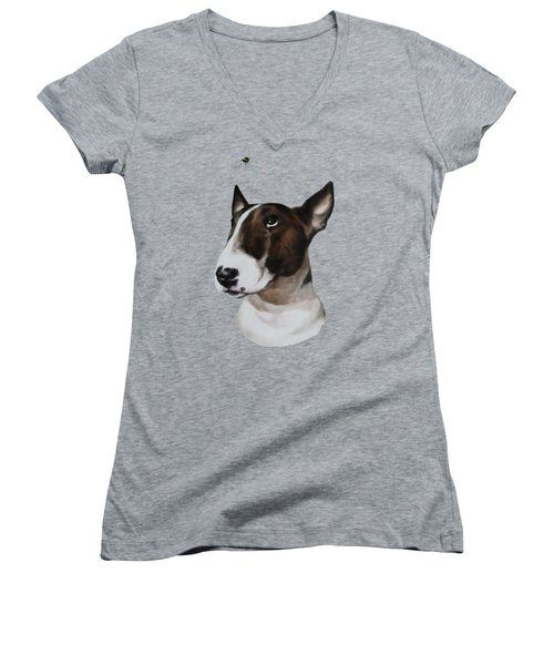 Bully And Bee Women's V-Neck (Athletic Fit)