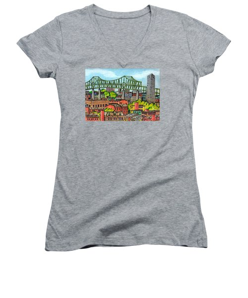 Bunkerhill And Tobin Women's V-Neck T-Shirt (Junior Cut) by Paul Meinerth
