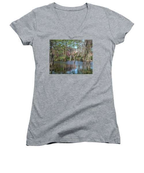 Burke Hall Cypress Lake Women's V-Neck T-Shirt