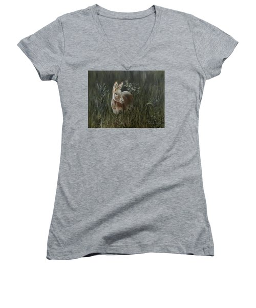 Burro In The Wild Women's V-Neck (Athletic Fit)